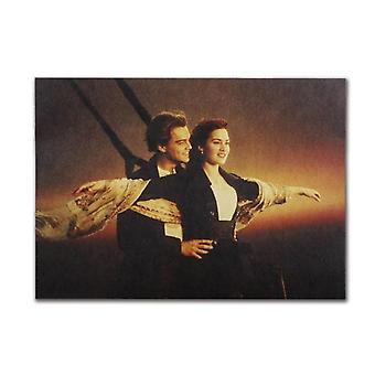 Titanic Rose Jack Vintage Kraft Paperi Klassinen ElokuvaJuliste Home / Cafe Bar
