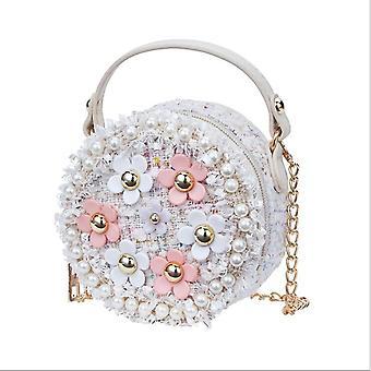 Torby na ramię z kwiatami, Pu Skórzana torba na posłaniec