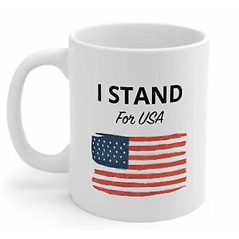 Jag står för USA-patriotisk mugg