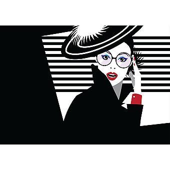 Taustakuva seinämaalaus muoti nainen pop rt tyyli (91041304)