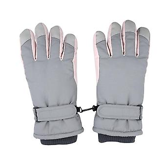 Ski Gloves Women Winter Plus Velvet Thickened Warmth Cute Outdoor Riding Motorcycle Windproof And Cold