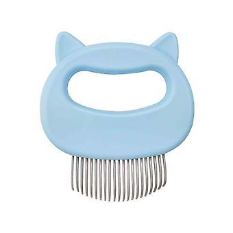 2PCS Pet Massage Brush Pet Grooming Massage Tool Pet Hair Special Shaver Blue