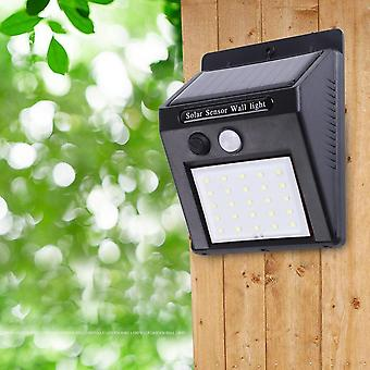 Waterproof 25 Led Solar Power Pir Motion Sensor Garden Wall Light Outdoor Home