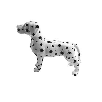 Piggy Bank Dog With Splashes of Paint