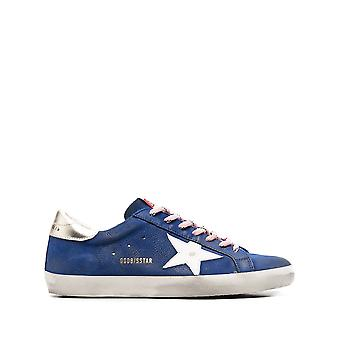 Golden Goose Gmf00101f00060880502 Hombres's zapatillas de cuero azul