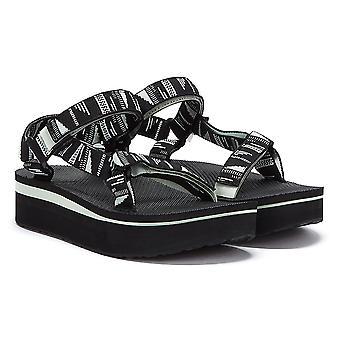 Teva Flatform Universal Chara Womens Black Sandals