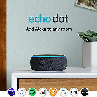 Echo dot (3rd gen) - smart speaker with alexa - charcoal fabric echo dot device only
