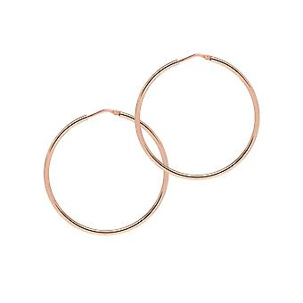 The Hoop Station Chica Latina Rose Gold Plated 45 Mm Hoop Earrings H221R