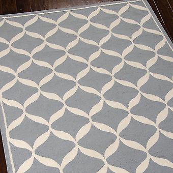 Decoración alfombras Der06 por Nourison en blanco y pizarra