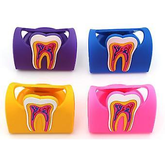 søt dental navn kortholder fargerik gummi tenner molar form telefon lagring