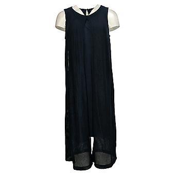 H By Halston Regular Sleeveless Knit Midi Dress Blue A288609