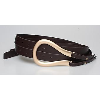 Women Belts, Metal Circle Pu Leather Holes Wide Cross Body Belt