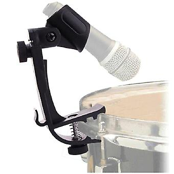 Durable Clip On Drum Rim Shockproof Mount Support Adjustable Microphone Mic