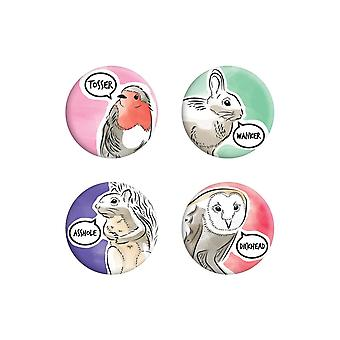 Grindstore Cute But Abusive Badge Set (Pack de 4)