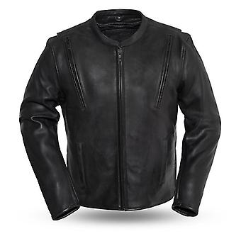 Mkl - laird men's motorcycle leather jacket
