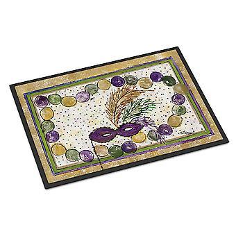 Caroline's Treasures Mardi Gras Beads Zerbino interno o esterno, 18 x 27, Multicolor