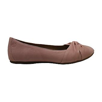 Born Womens Lilly Leather Round Toe Ballet Flats