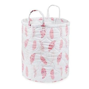 Cestino in tessuto dell'armadio del contenitore di piume rosa pieghevole