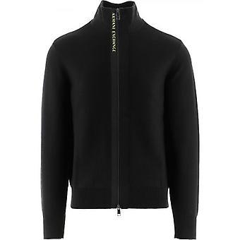 Armani Exchange Black Knitted Jumper