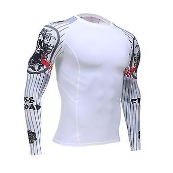3Dコンプレッションシャツ、メンズロングスリーブスポーツTシャツ