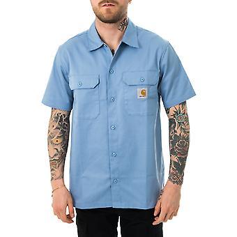 Chemise homme carhartt wip s/s master shirt wave i027580.wv