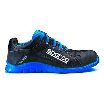 בטיחות הנעלה Sparco בפועל כחול / שחור