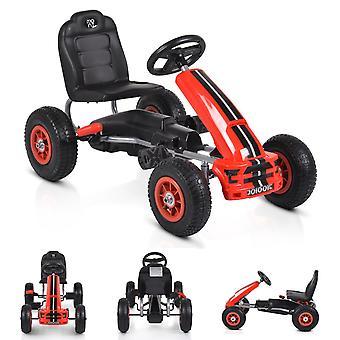 Moni Kids Gokart Nevada Vermelho, Pedal Car, Pneus de Ar, Travão de mão de 3 anos