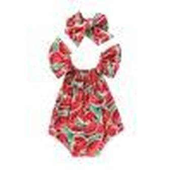Baby Clothes, Watermelon Print Short Sleeve Bodysuit