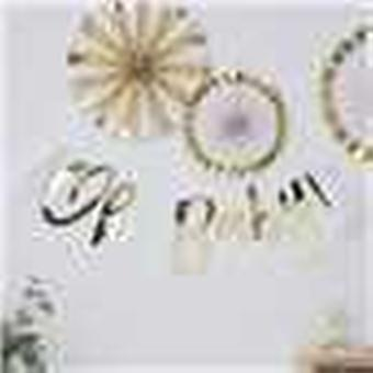 Gold Baby Shower Bunting   Oh Baby! Foiled Gender Neutral  Decoration Unisex 1.5m