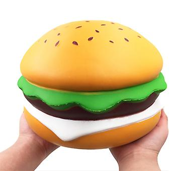 Langzame rebound Oversized Sesame Burger squishy, stressverlichtend speelgoed voor kinderen, volwassene