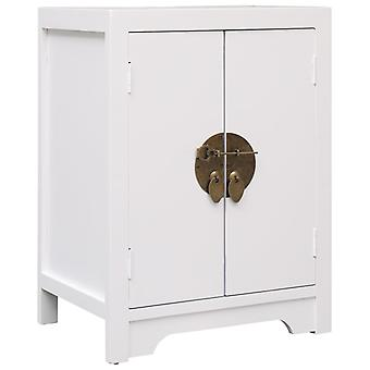 vidaXL Bedside Table White 38×28×52 cm Paulownia Wood