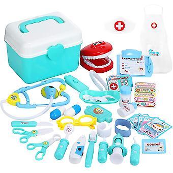FengChun Arzt Spielzeug, 33 Teile Arztkoffer Medizinisches Spielzeug Kinder Zahnarzt Doktor Set