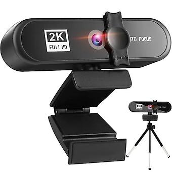 2K HD Webcam USB 3.0 Camera Built in Microphone For PC Computer Laptop Video Webcam Web Camera With Tripod Privacy Cover|Webcams