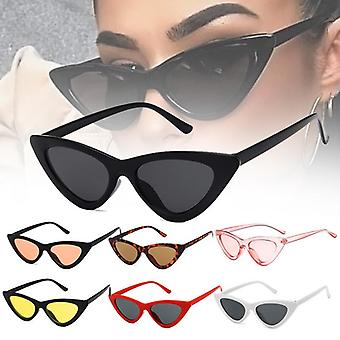 Glazen Retro Vintage Zonnebril Vintage Cateye Goggles Sexy Kleine Cat Eye Zonnebril voor Vrouwen 1pc