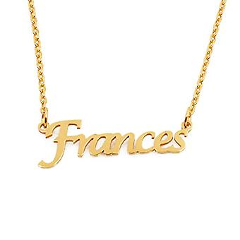 KL Frances custom nimi Kullattu kaulakoru 18 karat säädettävä ketju 16 19 cm.