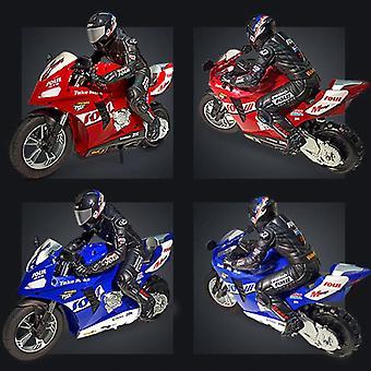 1:6 RC Coches de control remoto auto equilibrado Stunt Juguete Car Niño motocicleta eléctrica para niño regalo (azul)