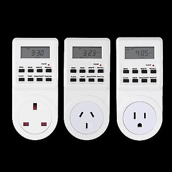7 Day Digital Electronic Lcd Plug-in 12/24 Hour Timer Switch Plug Socket