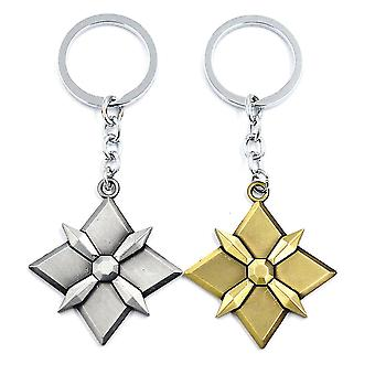 2pcs Ow Key Chain Overwatch Alloy Car Key Ring Pendant