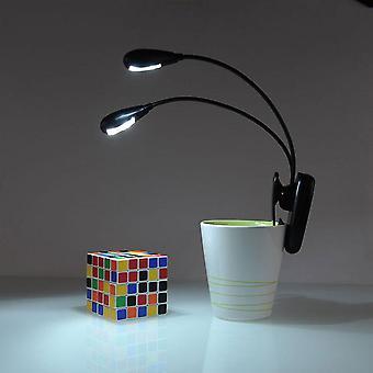 Led Reading Lamp Dual Arms Leds Flexible Book Sheet