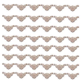 48 stycken typ C-15 Träfärg snidad dekal hörn onlay ram 5x5cm