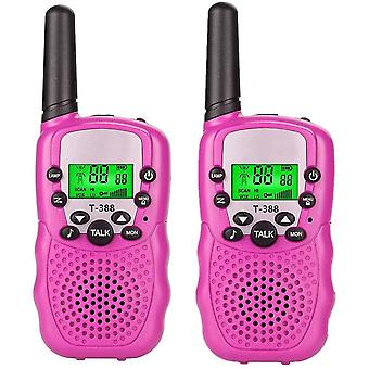 ורוד 2-pcs ילדים מכשיר קשר דו כיווני רדיו צעצוע 3 קילומטרים טווח cai1562