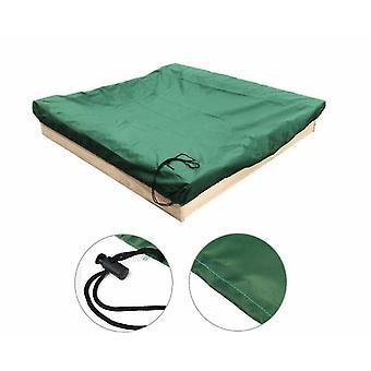 180 * 180Cm غطاء رمل أخضر مع drawstringsquare الغبار واقية من الغبار الشاطئ رمل غطاء حمام السباحة الرملي تغطي x18