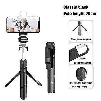 Με ελαφρύ 70cm μαύρο επεκτάσιμο selfie stickwireless τηλεχειριστήριο και στάση τρίποδων x7510