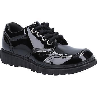 Hush puppies kid's kiera junior patent school shoe black 30823