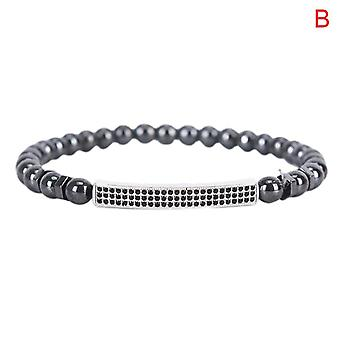 Unisex weight loss magnetic therapy hematite stone bracelet