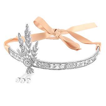 Kruunun morsius Tiara korut Pearl Princess Diadem Headdress