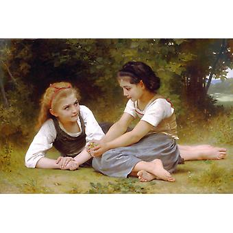 The Nut Gatherers,william-adolphe Bouguereau Art Reproduction.neoclassicism Modern Hd Art Print Poster,canvas Prints Wall Art For Home Decor Pictures