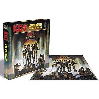 Kiss Love Gun Jigsaw Puzzle (500 Pieces)