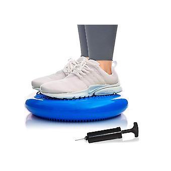 כרית מתנדנדת יציבות איזון דיסק כושר מאמן Wiggle Pad לבית(כחול)