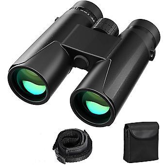 12x42 HD Compact Binoculars Waterproof for Bird Watching, Hiking, Hunting, Sightseeing, FMC Lens Binoculars,(black)